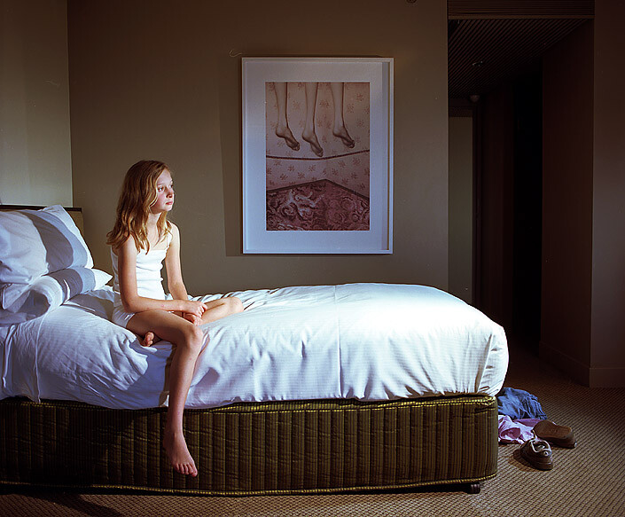 Anne Zahalka Room 4513 (with artwork by Pat Brassington), Hotel Suite, 2008; Type C print; 75 x 92.5 cm; enquire