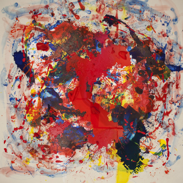 Julie Rrap Loaded: Red #3, 2012; digital print face mounted on perspex ; 126 x 126 cm; Edition of 3 + AP 2; enquire