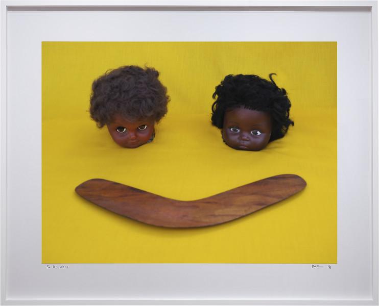 Destiny Deacon Smile, 2017; lightjet print; 102 x 127 cm; (framed); Edition of 5 + AP 2; enquire