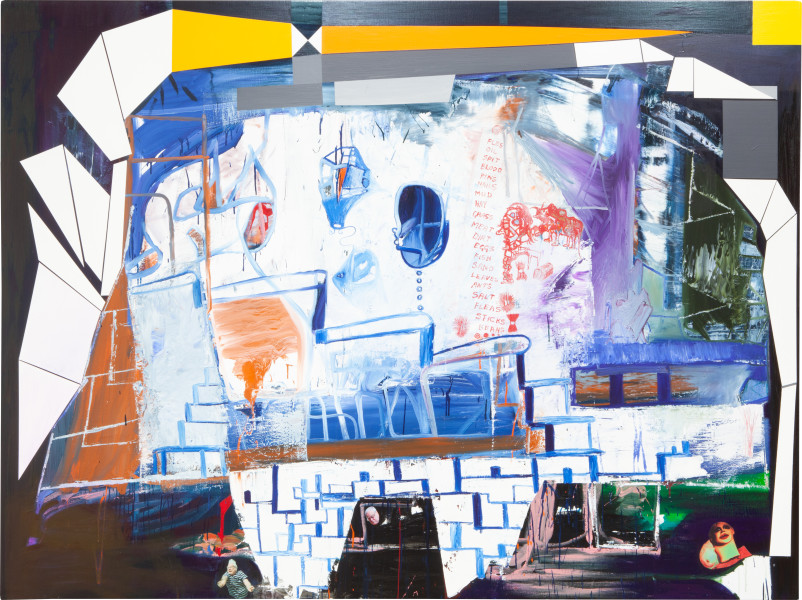 Gareth Sansom A forensic possibility, 2010; Oil, enamel and collaged digital photographs on linen; 183 x 244 cm; enquire