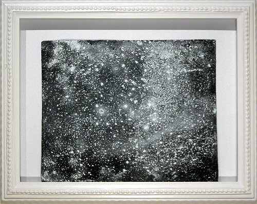 Hany Armanious Wall rubbing # 17, 2003; clogged sandpaper; 23 x 28 cm; (paper size) 34 x 41.5 cm (frame size); enquire