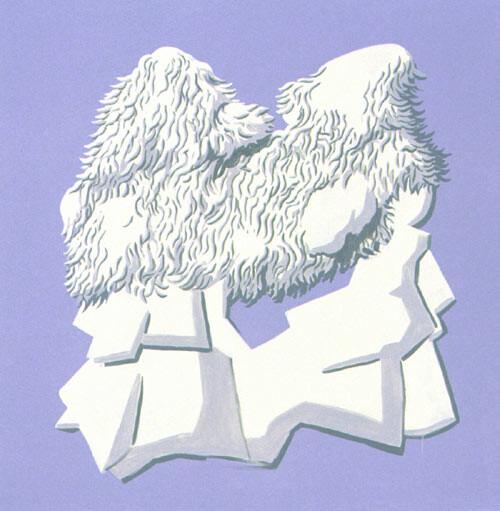 Tony Clark Jasperware Painting, 1994; acrylic paint on cotton; 152.5 x 152.5 cm; enquire