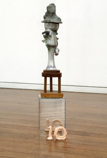 Mikala Dwyer 10, 2009; concrete, ceramic, wood, acrylic; 61 x 12 x 12 cm; enquire