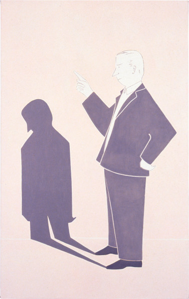Vivienne Shark LeWitt MAN (7.40 pm), 1995; oil on linen; 137 x 86 cm; enquire