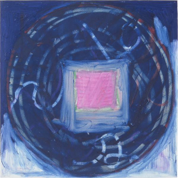Denise Green Intimacy, 1987; oil, paint stick on canvas; 79 x 79 cm; enquire