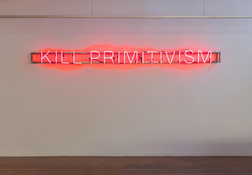 Brook Andrew KILL PRIMITIVISM, 2017; neon; 25 x 385 x 18 cm; enquire