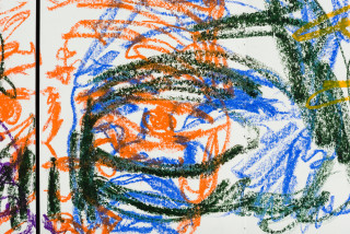 Pierre Mukeba (Emotions of colour) (detail), 2020; charcoal and pastel on archival paper; 60 x 84 cm; enquire