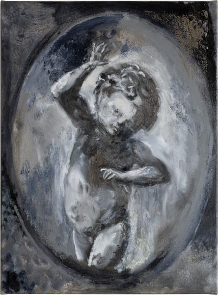 Tony Clark Design for a portrait miniature, 2014; oil on canvas; 40 x 30 cm; enquire