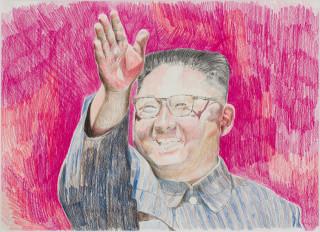Callum Morton Monster's Ball #2, 2020; pencil on paper; 45.5 x 56 cm; enquire