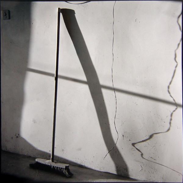 Bill Culbert Broom against Wall, France, 2002; silver gelatin prints; 40.5 x 40.5 cm; Edition of 25; enquire