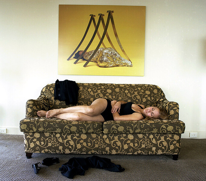 Anne Zahalka Room 4321 (with artwork by Vanila Netto), Hotel Suite, 2008; Type C print; 75 x 92.5 cm; enquire