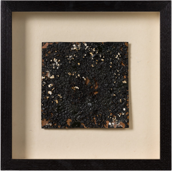 Kirtika Kain Veda, 2019; tar, plaster, wax, copper; 34 x 34 cm; enquire