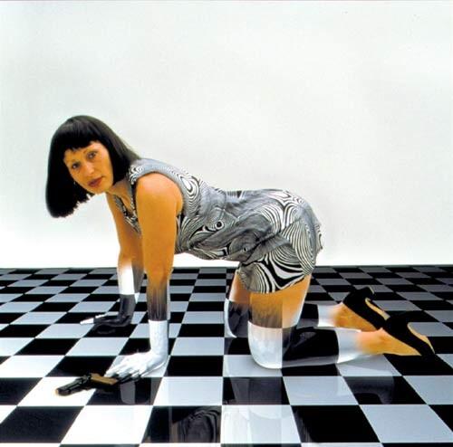 Julie Rrap Camouflage # 8 (Jeanne), 2000; photograph mounted on lexcen; 122 x 122 cm; Edition of 9; enquire