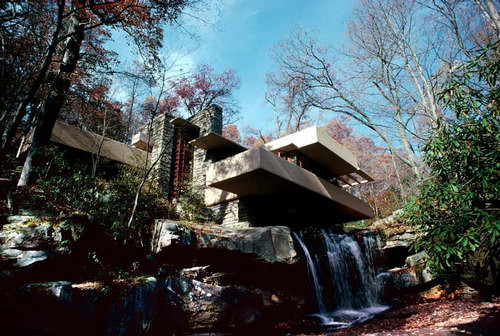 Harry Seidler Bear Run, Pennsylvania, Fallingwater, Kaufman House, 1978; from the series Architect: Frank Lloyd Wright, completed 1936; 71 x 106.5 cm (image size) 95.5 x 125 cm (frame size) edition of 6; enquire