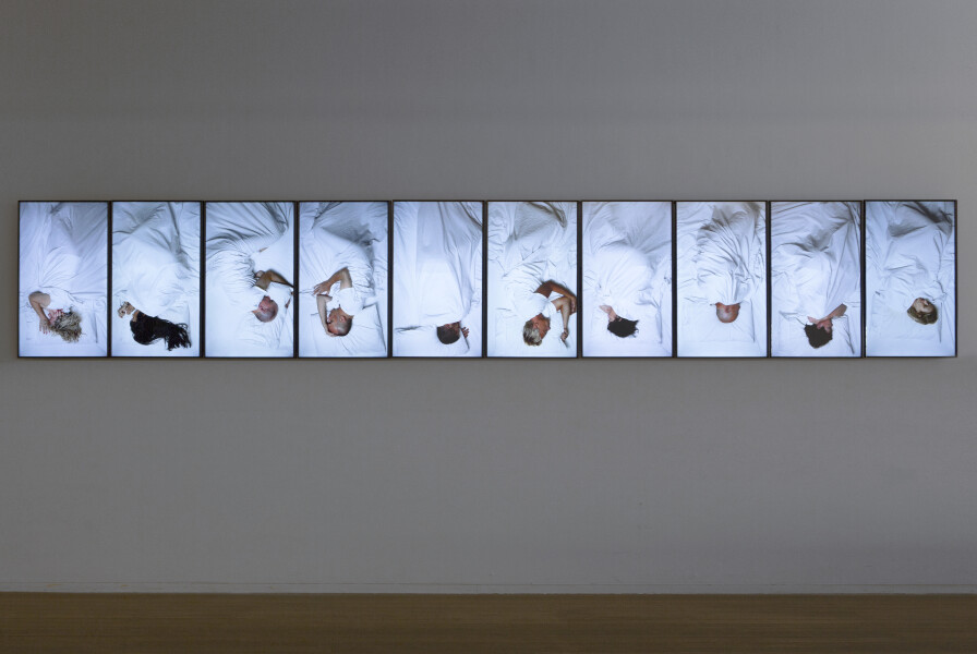 Julie Rrap Artists Dreaming, 2015; 20-Channel HD Video with customised supports; Edition of 2 + AP 1; enquire