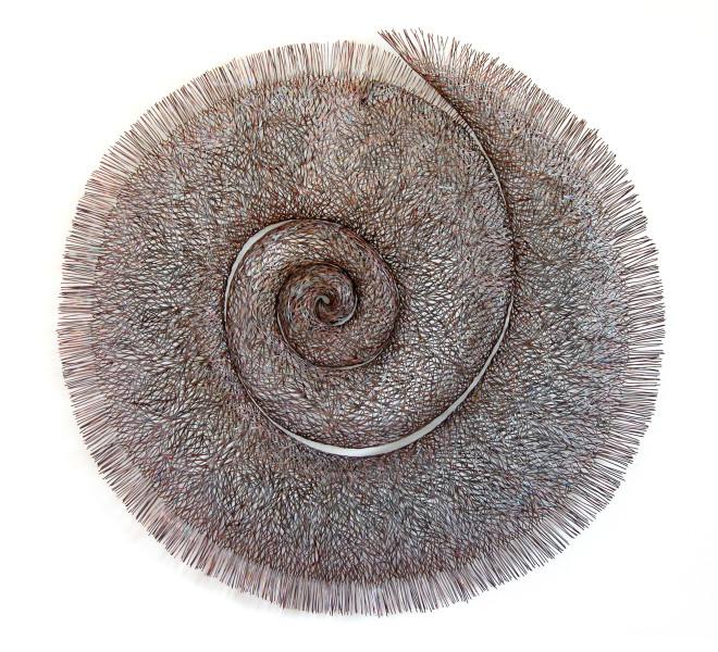Bronwyn Oliver Mandala, 2004; copper; 97 x 95 x 8 cm; enquire