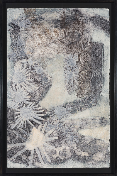 Nyapanyapa Yunupingu Djulpan, 2021; 224-21; natural earth pigments on paper; 109 x 72.5 cm; enquire