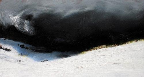 Louise Hearman Untitled #1170, 2005; oil on masonite; 14 x 26 cm; enquire