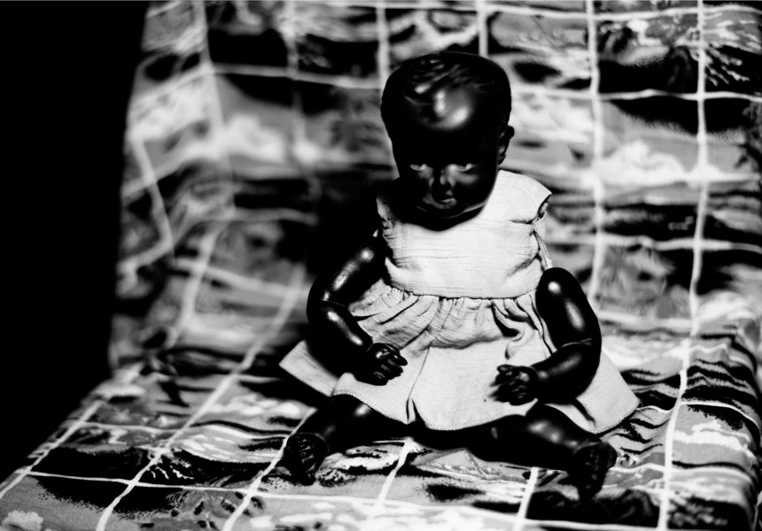 Destiny Deacon Pacified, 2005; lightjet print from orthochromatic film negative; 81 x 111.2 cm; Commissioned by the Australian Centre for Contemporary Art as part of NEW05; Edition of 15; enquire