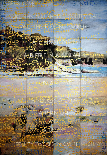 Imants Tillers Sirius Cove, 2012; acrylic, gouache on 32 canvasboards, nos. 91438-91469; 203 x 142 cm; enquire