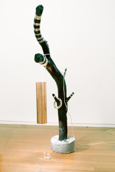 Mikala Dwyer 13, 2009; wood, paint, concrete, copper, light; 144 x 68 x 29 cm; enquire