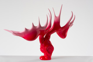 Patricia Piccinini Shoeform (Ovaries), 2019; resin, automotive paint; 65 x 95 x 40 cm; Edition of 3 + 1 AP; enquire