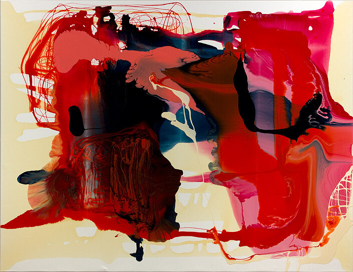 Dale Frank Said like a White Gloved Gibbon, 2012; varnish on canvas; 200 x 260 cm; enquire
