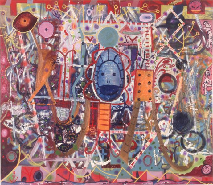 Gareth Sansom Labyrinth I, 1988; oil and enamel on linen; 198.1 x 228.6 cm; enquire