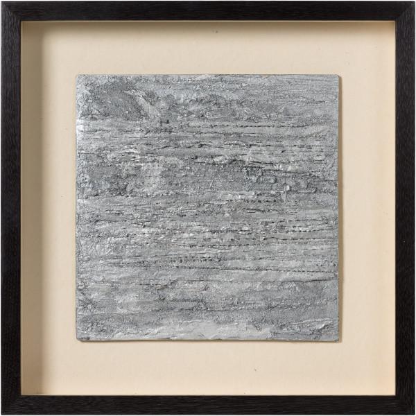 Kirtika Kain veil, 2019; silver pigment, silver paint, plastic waste, zinc; 47 x 47 cm; enquire