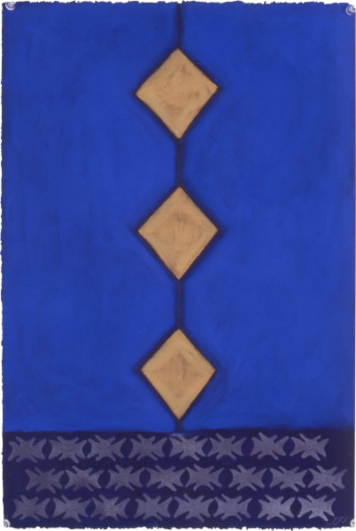 Fiona Foley Diamond Scale Mullett, 1992; pastel on paper; 56 x 38 cm; enquire