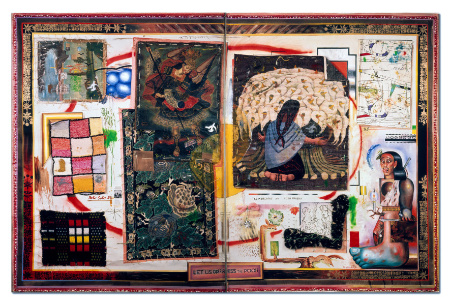 Juan Davila Mexicanismo, 1990; oil and collage on canvas; 280 x 434 cm; enquire