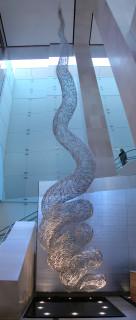 installation view; Bronwyn Oliver Vine, 2005; aluminium; 16.5 x 2.8 x 2.8 cm; enquire