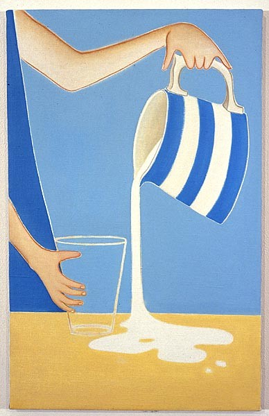 Vivienne Shark LeWitt Milk, 2001; oil on linen; 56 x 36 cm; enquire