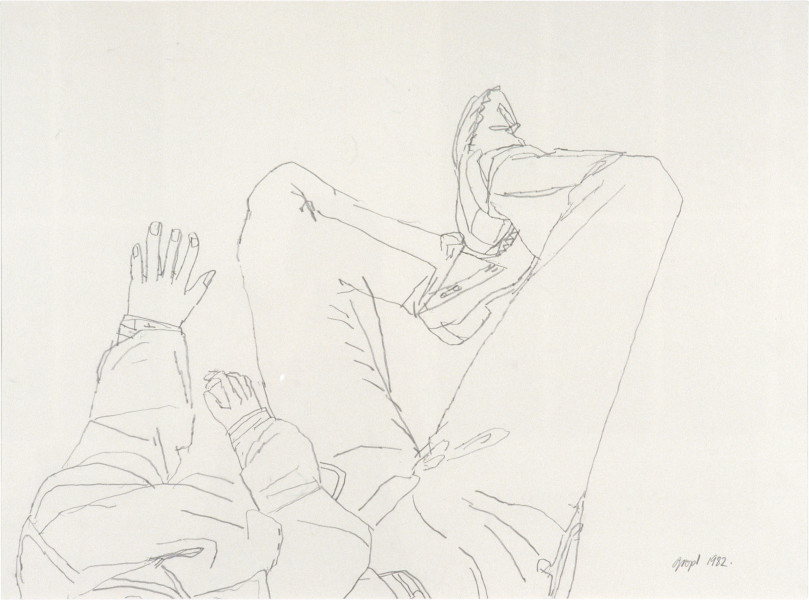 Geoff Lowe Viewer, 1983; pencil on paper; 62 x 82 cm; enquire