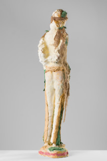 Linda Marrinon Woman in a forest, 2020; plaster, hessian; 121 x 27 x 16 cm; enquire