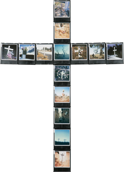 Nell ONE-OFF (EMMA), 2005; 14 Polaroid Photographs and Cartridges, wood; 90.5 x 64.8 cm; enquire