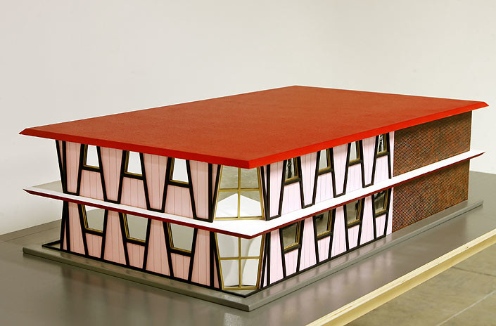 Callum Morton House #2, 2007; wood, acrylic, synthetic polymer paint, brass; enquire