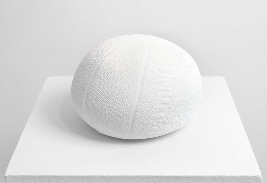 James Angus Basketball dropped from 35,000 feet, 1999; plaster; 25 x 29 x 29 cm; Edition of 5; enquire