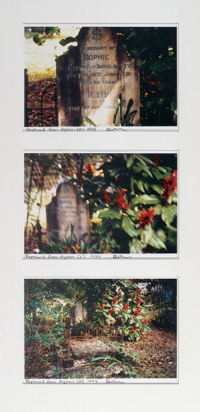 Destiny Deacon Postcard from Ayton A, C & B, 1998; 3 colour laser prints; 21 x 29.7 cm; Edition of 15; enquire