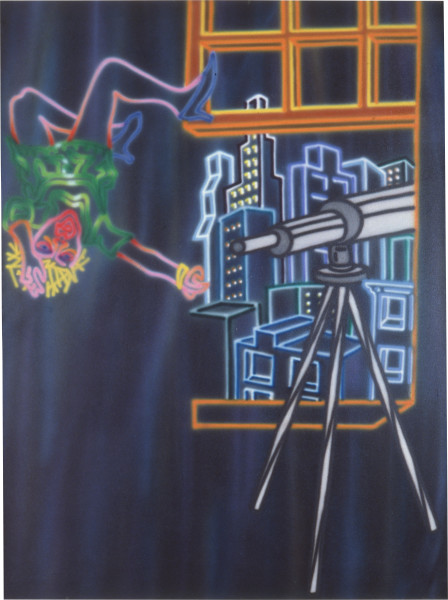 Howard Arkley Suicide, 1984; synthetic polymer on canvas; 110 x 150 cm; enquire