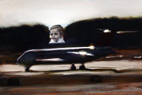 Louise Hearman Untitled #1086, 2005; oil on masonite; 41 x 61 cm; enquire