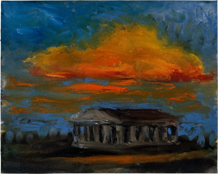 Tony Clark Sacro Idyllic Landscape, 1986; oil on paper; 24 x 30 cm; enquire