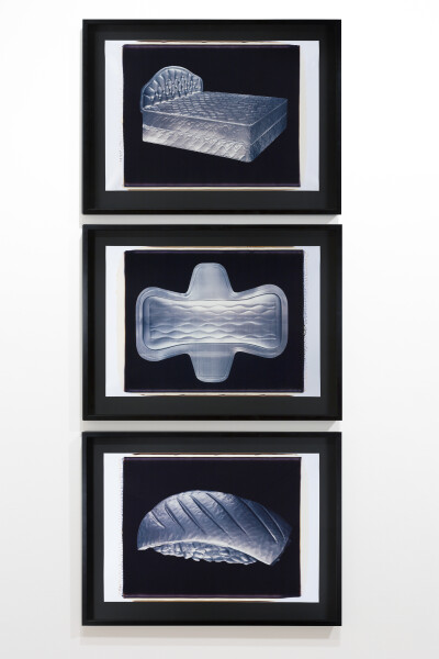 Fiona Hall S.O.S., 1994; polaroid photographs; 53 x 68 cm; (image size) tryptich; enquire