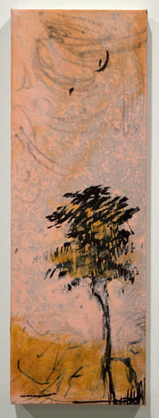 Tony Clark Three sections from Clark's Myriorama, 2013; acrylic and permanent marker ink on canvas; 30.5 x 10.5 cm; enquire