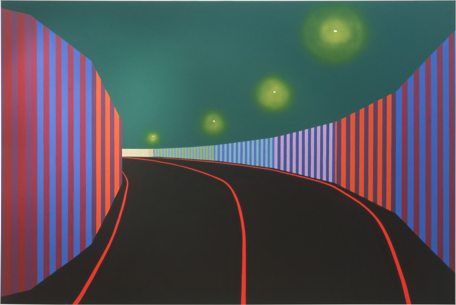 Dale Frank Speed Way, 2001; from the series Cat #3; acrylic paint on canvas; 200 x 300 cm; enquire
