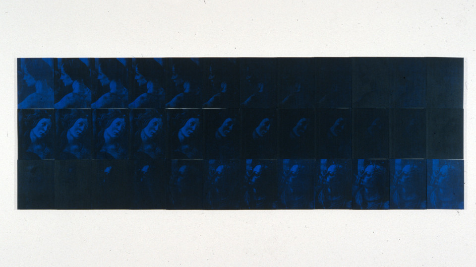 Lindy Lee Increase and Intercession, 1990; photocopy & acrylic on Stonehenge paper; 82.5 x 200 cm; enquire