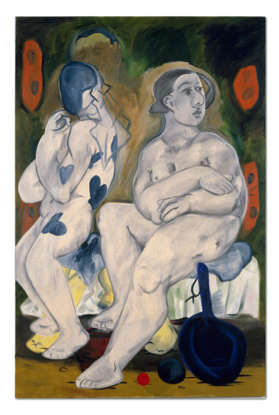 Linda Marrinon 2 Nudes With Frypan, 1990; oil on canvas; 167.5 x 112 cm; enquire