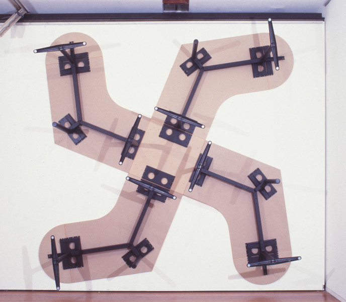 Clay Ketter Agenda, 1998; IKEA office furniture; 344 x 344 x 73 cm; enquire