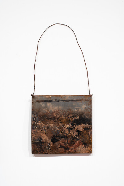 Lorraine Connelly-Northey Narrbong, 2019; CONNL - 0040; burnt steel, wire; 124 x 56 x 10 cm; Enquire