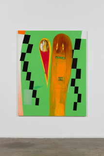 installation view; Gareth Sansom Try harder!, 2020; oil and enamel on linen; 152 x 122 cm; enquire